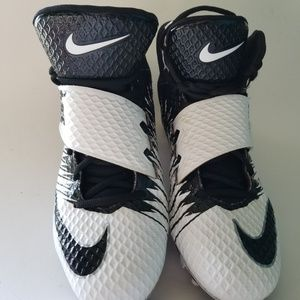 Nike Strike Pro football cleat size 11white black